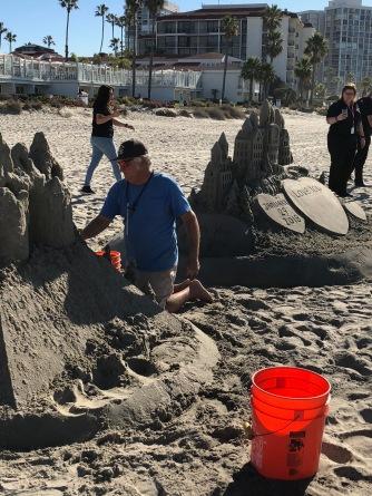 Sand castle man