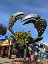 crab sculpture