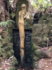 Bearded man fountain
