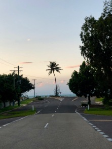 Evening at the end of street