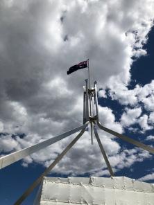 flag waving roof