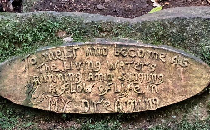 Fountain man sign