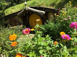 hobbit hole with flowers