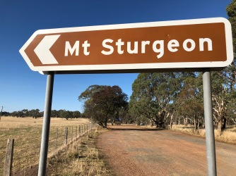 Mt Sturgeon sign