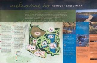 Newport Lakes sign