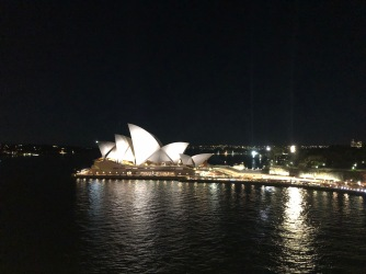 opera house at night from ship