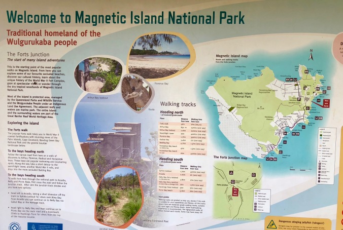 sign Magnetic Island map
