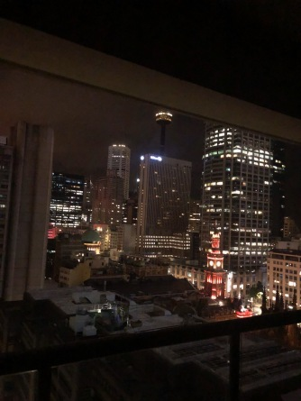 Sydney view from balcon night