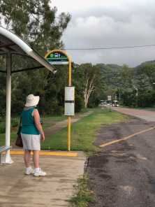Waiting for bus