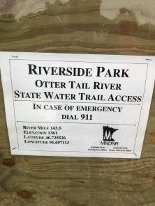 Frazee Riverside Park notice
