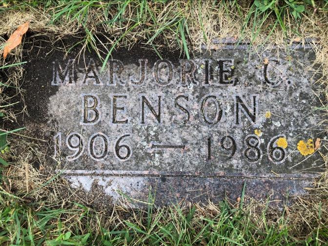 My aunt Marjorie